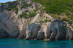 Zakynthos, Greece - incredible Blue Caves Stock Images