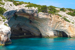 Zakynthos, Greece - incredible Blue Caves Royalty Free Stock Photography