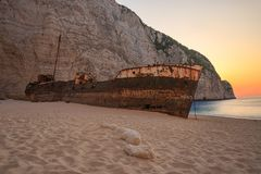 Shipwreck Navagio Royalty Free Stock Photography