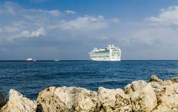 Zakynthos, Greece - SEPTEMBER 2016: Azura Cruise liner from Hamilton Royalty Free Stock Photo
