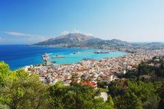 Zakynthos, Greece. View of the main town of Zakynthos, Greece Royalty Free Stock Image