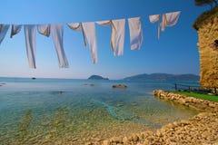 Zakynthos, Greece - view at Marathonisi Island Agios Sostis Royalty Free Stock Photo