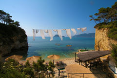 Zakynthos, Greece - view at Marathonisi Island Agios Sostis Stock Photo