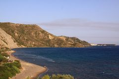 Daphne beach, zakynthos island greece Stock Images