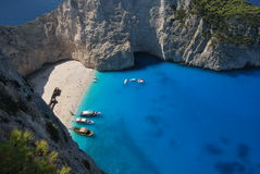 Zakynthos. Greek island in the Ionian Sea. It is the third largest of the Ionian Islands Stock Image
