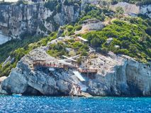 Zakynthos Greek Island; Steps Down Cliff to Sea Royalty Free Stock Images