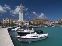 Zakynthos harbor stock photos