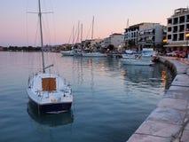 Zakynthos Harbor, Dusk Royalty Free Stock Photos