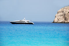Zakynthos island blue sky and sea greece Royalty Free Stock Image
