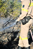 Zakynthos island low scale fire in volimes July 03 2013,Greece Stock Photos