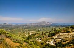 Zakynthos Island panorama Royalty Free Stock Image