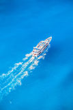 Zakynthos island with tourist boat in Greece. Famous Zakynthos island with tourist boat in Greece Royalty Free Stock Photo