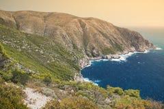 Zakynthos-Küste Lizenzfreie Stockfotos