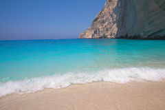 Zakynthos Navagio Bay - deep blue water beach - Greece Stock Photo