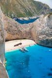 Zakynthos - Navagio beach Stock Photography