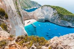 Zakynthos, Navagio zatoka - Obraz Stock