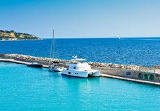 Zakynthos port a beautiful summerday.Greece Stock Photo