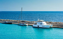 Zakynthos port a beautiful summerday.Greece Stock Photos
