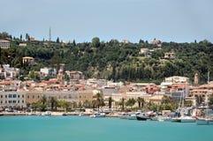 Zakynthos portuario Foto de archivo