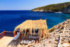 Zakynthos relaxing sundeck Stock Photos