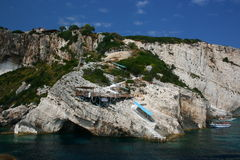 Zakynthos Rocky Coast royalty free stock photo