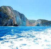 Zakynthos. Rocky mountains and crystal water Stock Images