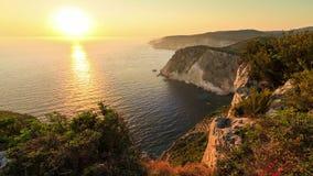 Zakynthos seascape sunset timelapse stock footage