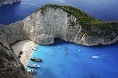 Zakynthos, ship wreck Royalty Free Stock Photo