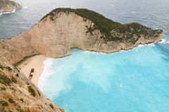Zakynthos Shipwreck Royalty Free Stock Photos