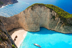 Zakynthos Shipwreck bay Royalty Free Stock Images