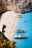Zakynthos shipwreck bay - main island tourist attraction Stock Photo
