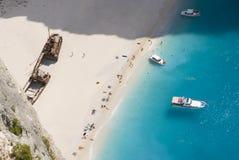 Zakynthos Shipwreck Holiday-maker Royalty Free Stock Photo