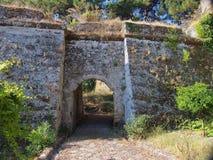 Zakynthos slott arkivfoton