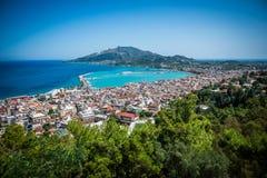 Zakynthos (stad), Grekland Royaltyfria Bilder