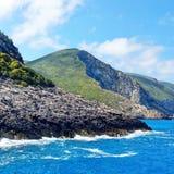 Zakynthos stenig kust Royaltyfria Foton