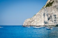 Zakynthos summer vacation pictures inspiring for a holiday on the island. Zakynthos summer vacation pictures depicting the beautiful summer days spent on the royalty free stock photo