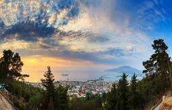 Zakynthos sunrise panorama Stock Photos