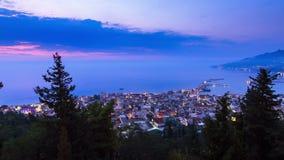 Zakynthos sunrise timelapse stock footage