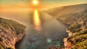 Zakynthos sunset timelapse stock video footage
