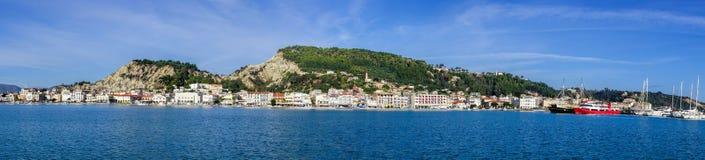 Zakynthos town harbor with boats on Zakynthos island in Greece Royalty Free Stock Photos
