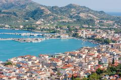 Zakynthos town with harbor, Ionian Island Royalty Free Stock Photos