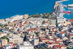 Zakynthos town with harbor, Ionian Island Royalty Free Stock Image