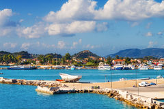 Zakynthos town in the morning Royalty Free Stock Image