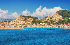 Zakynthos town in the morning Stock Photography