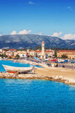 Zakynthos town in the morning Royalty Free Stock Photos