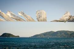 Zakynthos wakacje obrazuje inspirować dla wakacje na wyspie Zdjęcie Stock