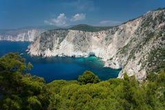 Zakynthos. The west coast of the Greece island Zakynthos Royalty Free Stock Photo
