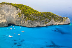 Zakynthos, Navagio, Greece Royalty Free Stock Images