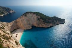 Zakyntos. The west coast of the Greece island Zakynthos Royalty Free Stock Photos