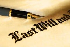 Zal en testament Royalty-vrije Stock Afbeelding